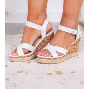 New! Cute white wedges!! Size 6.5